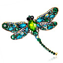 cheap Brooches-Women's Brooches - Crystal Fashion Brooch Red / Green / Blue For Wedding / Party / Daily