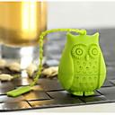 hesapli USB Flaş Sürücüler-Karikatür silikon baykuş kuş çay demlik gevşek yaprak süzgeç bitkisel spicefilter çay araçları