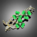 cheap Brooches-Women's Brooches - Stylish Brooch Green For Party / Dailywear / Daily / Casual