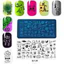 voordelige Nagelstempels-rechthoekige plaat manicure printing template halloween-serie