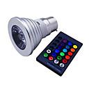 levne LED bodovky-1ks 3 W 120 lm E14 / GU10 / B22 LED bodovky 1 LED korálky High Power LED Stmívatelné / Dálkové ovládání / Ozdobné R GB 85-265 V / 1 ks / RoHs