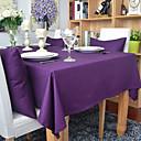 hesapli Masa Örtüleri-Dikdörtgen Solid Masa Örtüleri , %100 Pamuk Malzeme Otel Yemek Masası Tablo Dceoration Akşam yemeği Dekor Favor Ev Dekore Etme