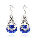 preiswerte Ohrringe-Damen Synthetischer Diamant Tropfen-Ohrringe - Sterling Silber, Harz Rot / Blau / Rosa Für Party Alltag Normal