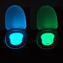 お買い得  LED アイデアライト-youoklightモーション活性化されたセンサートイレの夜の光、8色サイクル、幸せおしっこ