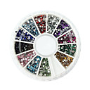 cheap Makeup & Nail Care-2000pcs 12 color 1 5mm circular diamond nail art decorations