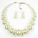 ieftine Cercei-Pentru femei Perle Seturi de bijuterii femei European Perle Imitație de Perle Perlă neagră cercei Bijuterii Rosu / Roșu Închis / Negru / Alb Pentru Zilnic
