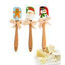 ieftine Ornamente de Petrecere-Instrumente de coacere Silicon / Lemn Nuntă / Crăciun Tort Spatule de copt & Patiserie 1 buc