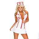 hesapli Kolyeler-Kariyer Kostümler Hemşireler Cosplay Kostümleri Parti Kostümleri Kadın's Hastane Servisi Üniformaları Yılbaşı Cadılar Bayramı Yeni Yıl Festival / Tatil Spandex Kıyafetler Beyaz Zıt Renkli