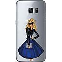 economico Custodie / cover per Galaxy serie S-Custodia Per Samsung Galaxy S7 edge / S7 Ultra sottile / Transparente / Fantasia / disegno Per retro Sexy Morbido TPU per S7 edge / S7 / S6 edge plus