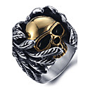cheap Rings-Men's Statement Ring / Ring - Titanium Steel Skull Vintage, Punk, Fashion 8 / 9 / 10 Silver For Halloween / Daily / Casual