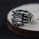 hesapli Saç Takıları-Erkek Kadın Yüzük Mücevher Kişiselleştirilmiş Som Gümüş Skull shape Mücevher Uyumluluk Günlük