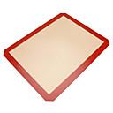abordables Utensilios de cocina y Gadgets-1pc Silicona Ecológica Antiadherente Pan Pastel Hornear esteras y Revestimientos Herramientas para hornear