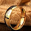 olcso Férfi gyűrűk-Férfi Band Ring Rozsdamentes acél Divatos gyűrű Ékszerek Arany Kompatibilitás