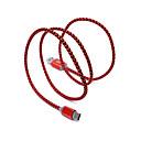preiswerte Kabel & Adapter fürs Handy-USB 2.0 / Typ-C USB-Kabeladapter Geflochten Kabel Für Samsung / Huawei / LG 100 cm Für Nylon