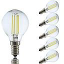 ieftine Becuri LED Bi-pin-GMY® 6pcs 4 W 350-400 lm E14 Bec Filet LED P45 4 LED-uri de margele COB Alb Cald / Alb Rece 220-240 V / 6 bc / RoHs
