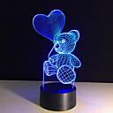 preiswerte Mac-Aufkleber-1 Stück 3D Nachtlicht Fernbedienungskontrolle Nachtsicht Größe S Farbwechsel Künstlerisch LED Modern/Zeitgenössisch