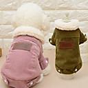 hesapli Köpek Oyuncakları-Kedi Köpek Paltolar Köpek Giyimi Solid Kahve Pembe Peluş Kumaş Kostüm Evcil hayvanlar için Erkek Kadın's Günlük/Sade Moda
