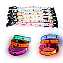 Buy Dog Collar LED Lights Adjustable / Retractable Reflective Strobe/Flashing Safety Cartoon Stars Plastic Nylon Mesh Yellow Red Green Blue