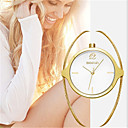 hesapli Bilezikler-Kadın's Moda Saat Quartz Alaşım Bant Analog İhtişam Lüks Altın Rengi - Altın Beyaz