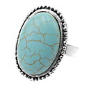 رخيصةأون خواتم-خاتم فيروز أخضر فيروز سبيكة مناسب للبس اليومي فضفاض مجوهرات