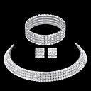 cheap Rings-Rhinestone Jewelry Set - Rhinestone Include Silver For Wedding / Party / Casual