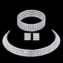 olcso Divat nyaklánc-Ékszer szett Strassz Csillagpor hölgyek tartalmaz Ezüst Kompatibilitás Esküvő Parti Hétköznapi Álarcos mulatság Eljegyzés Diákbál