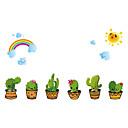 رخيصةأون حافظات / جرابات هواتف جالكسي A-مناظر طبيعية النباتية كارتون ملصقات الحائط لواصق حائط الطائرة لواصق حائط مزخرفة, الفينيل تصميم ديكور المنزل جدار مائي جدار زجاج / الحمام