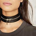 ieftine Brățări-Coliere Choker Șuviță unică femei Design Unic Modă Piele Aliaj Negru Coliere Bijuterii Pentru Cadouri de Crăciun Nuntă Petrecere Ocazie specială Zi de Naștere Logodnă