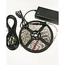 ieftine Lumini de Interior Mașină-zdm® 5m lămpi de bandă de creștere 300 led-uri 5050 smd 1 12v 6a adaptor / cabluri 1 dc 4red + 1blue rezistent la apă / tăiere / design nou 100-240 v / 12 v 1 set / ip65 / autocolant