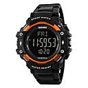 hesapli Erkek Saatleri-Erkek Kadın's Spor Saat Bilek Saati Dijital saat Dijital 30 m Su Resisdansı Kalp Ritmi Monitörü Alarm Kauçuk Bant Dijital Lüks Siyah - Gümüş Turuncu Mavi / Takvim / Adım Sayaçları / LCD / Kronometre