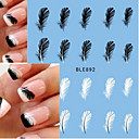 preiswerte Make-up & Nagelpflege-10pcs/set Wasser Transfer Aufkleber / Nagel-Aufkleber Nagel-Aufkleber Aufkleber / Nagel-Kunst-Design