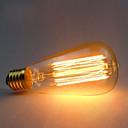 hesapli Akkor Ampuller-1pc 60 W E26 / E27 ST64 Sıcak Beyaz 2300 k Retro / Dekorotif Incandescent Vintage Edison Ampul 220-240 V