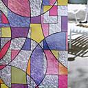 رخيصةأون شرشفات الطاولة-هندسي رجعي ملصق النافذة, PVC/Vinyl مادة نافذة الديكور غرفة الطعام غرفة النوم المكتب غرفة الأطفال غرفة المعيشة غرفة حمام شوب / مقهى المطبخ