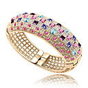 Buy Women's Bangles Jewelry Friendship Fashion Crystal Alloy Geometric Party Birthday Gift