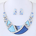 cheap Earrings-Women's Geometric Jewelry Set - Fashion, Euramerican Include Rainbow / Green / Blue For Party / Daily