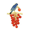 cheap Brooches-Women's Brooches - Basic Brooch Red For Casual