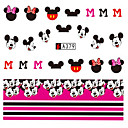 cheap Temporary Tattoos-10pcs set fashion lovely cartoon mickey nail art sticker cute nail water transfer decals a379