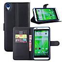 hesapli HTC İçin Kılıflar / Kapaklar-Pouzdro Uyumluluk HTC One / HTC M8 / HTC Cüzdan / Kart Tutucu / Şoka Dayanıklı Tam Kaplama Kılıf Solid Sert PU Deri için HTC One X9 / HTC One M9 / HTC One M8 / HTC 10