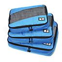 ieftine Rucsaci & Genți-3 Piese Geantă Călătorie / Organizator de călătorii / Organizator Bagaj de Călătorie Capacitate Înaltă / Portabil / Pliabil Haine Material Textil / Poliester / Material net Călătorie / Durabil
