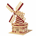 cheap 3D Puzzles-3D Puzzle Wooden Model Famous buildings Chinese Architecture Fun Wood Classic Kid's Unisex Toy Gift