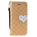 baratos Capinhas para Nokia-Capinha Para Apple iPhone 7 Plus iPhone 7 Porta-Cartão Carteira Com Suporte Flip Magnética Estampada Capa Proteção Completa Côr Sólida