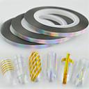 Χαμηλού Κόστους Μακιγιάζ και περιποίηση νυχιών-30pcs/set Γκλίτερ / Nail Art DIY Εργαλείο Αξεσουάρ Αυτοκόλλητα & Ταινίες / Ταινία / Αυτοκόλλητο με φύλλα Σχεδίαση Νυχιών