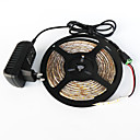 cheap LED String Lights-ZDM® 5m Light Sets 300 LEDs SMD 2835 1 DC Cables / 1 x 2A power adapter Warm White / White / Red Cuttable / Decorative 1set