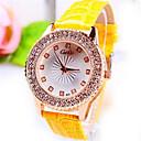 זול שעוני נשים-בגדי ריקוד נשים שעון יד קווארץ עור שחור / זהב / צהוב אנלוגי נשים - שחור צהוב אדום כתום