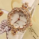 ieftine Ceasuri Damă-Pentru femei Ceas La Modă Quartz Ceramică Ivory imitație de diamant Analog Auriu Argintiu
