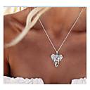 hesapli Kolyeler-Kadın's Uçlu Kolyeler - Fil, Hayvan Kişiselleştirilmiş, Vintage, Moda Gümüş Kolyeler Mücevher Uyumluluk Günlük