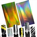 hesapli Makyaj ve Tırnak Bakımı-2pcs/set      Laser Gold+Laser Silver Parıltı 3D Tırnak Çıkartması Tırnak Folyo Çizgi Bant tırnak sanatı Manikür pedikür Moda Günlük / 3D Çivi Çıkartmaları / Folyo sıyırma bandı