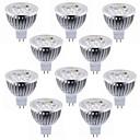 preiswerte LED Lichtstreifen-10 Stück 5.5 W 450-500 lm MR16 LED Spot Lampen 4 LED-Perlen Hochleistungs - LED Dekorativ Warmes Weiß / Kühles Weiß 12 V / RoHs