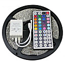 cheap LED Strip Lights-ZDM® 5m Light Sets 300 LEDs SMD 2835 1 44Keys Remote Controller RGB Cuttable / Waterproof / Decorative 12 V 1set / IP65 / Linkable / Self-adhesive