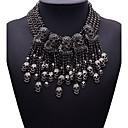 hesapli Kolyeler-Kadın's Açıklama Kolye - Bayan, Moda, Euramerican Siyah Kolyeler Mücevher Uyumluluk Parti, Hediye